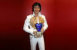 Pat Dunn competes in the Ultimate Elvis Tribute Artist Contest