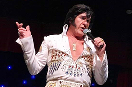 Dave Weaver competes as Elvis Presley