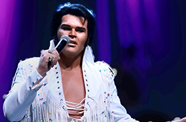 Michael Cullipher competes as Elvis Presley