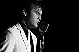 TAYLOR RODRIGUEZ competes in the Ultimate Elvis Tribute Artist Contest