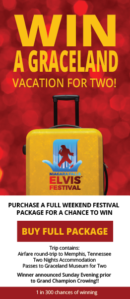 Purchase a full weekend festival package and qualify to win a Graceland Vacation for two!