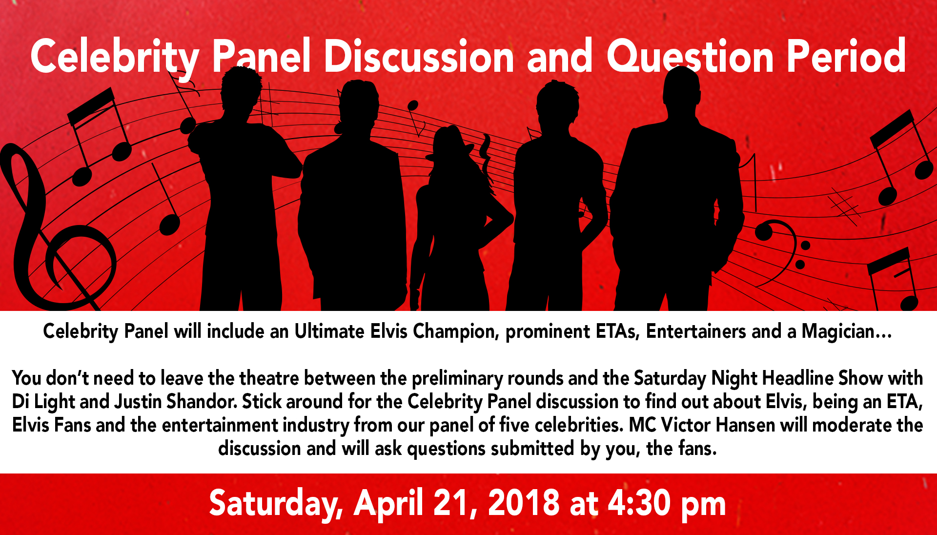 Celebrity Panel - Niagara Falls Elvis Festival: April 21st, 2018